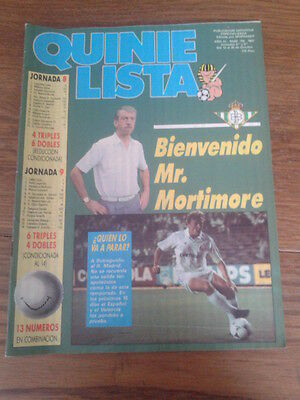 QUINIELISTA nº 118. POSTER: REAL BETIS (87/88)