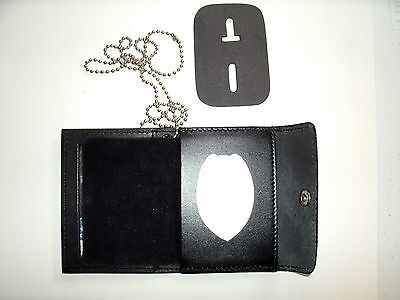 U.S Navy Security Snap Wallet Recessed Badge Cut Out /& ID Window CT-03LGR