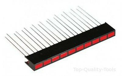 BAR GRAPH, GRN / YELL / RED, 10 LED Part # LUMEX SSA-LXH1025G8Y1I1D