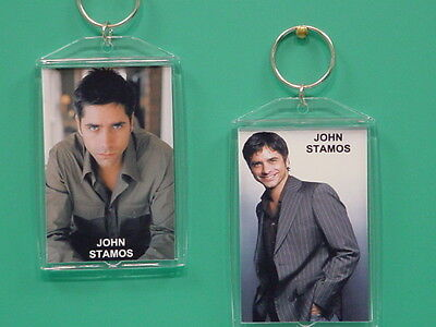 JOHN STAMOS - with 2 Photos - Designer Collectible GIFT Keychain 01