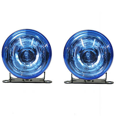 Universal Blue Front Fog Lights Car Van Pickup Offroad 90mm E-Marked H3 12v 55w