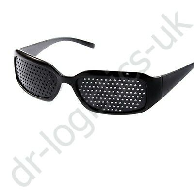 Eyewear Pinhole Glasses Training Black Eyesight Improvement Vision Care Exercise