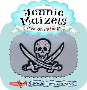 Pirate Flag Iron-on Embroidered Patch Badge Transfer Clothes Jacket Personalise