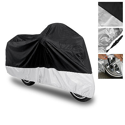 Waterproof Motorcycle MotoBike Scooter Street Bike Cover Protector Large Size L