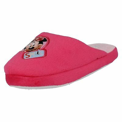Girls Minnie Mouse Pink Slippers (R19B)