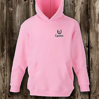 Girls equine horse riding hoody hoodie youth kids pony gift hooded children