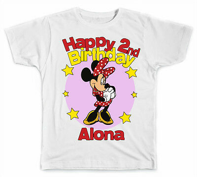 ee51cf672 PERSONALIZED DISNEY MINNIE Mouse Birthday T-Shirt - $8.99 | PicClick
