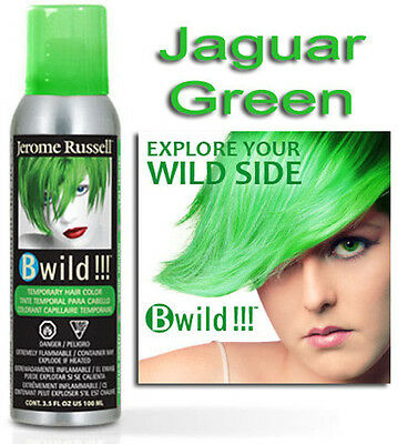 Jerome Russell B WILD TEMPORARY SPRAY HAIR COLOR  JAGUAR GREEN 3.5oz