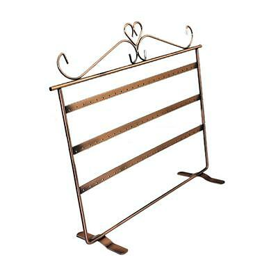 Bronze 3-Level Earrings Holder Jewelry Display Rack Stands 72 Holes