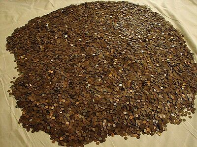 1909 - 1958 1LB Unsearched Lincoln Wheat Cents Coin Lot w/Free Shipping