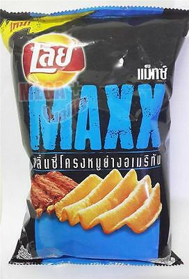 Lays Maxx Notch Potato Chips Spicy American Pork Ribs Flavor Delicious Snack 69g