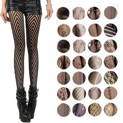 Women Jacquard Fishnet 20 Types Pantyhose Flower Hot Net Tights Stocking Europe
