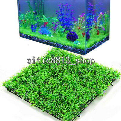 1X Artificial Water Aquatic Green Grass Plant Lawn Aquarium Fish Tank Landscape