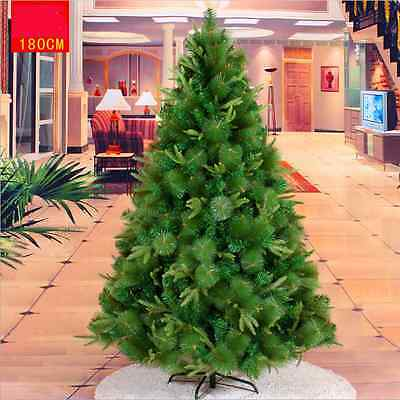 Deluxe 6FT/180cm Artificial Mixed Pine Needles Christmas Trees with Metal Stand