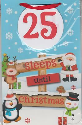 North Pole Hanging Countdown To Christmas Board Pull Off Sleeps, Advent calendar