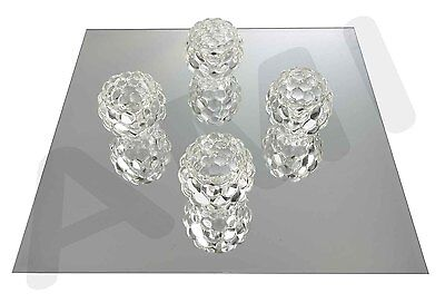 Beau BEVELLED SQUARE MIRRORS MIRROR PLATES WEDDING TABLE DECORATION CENTRE PIECE  3mm