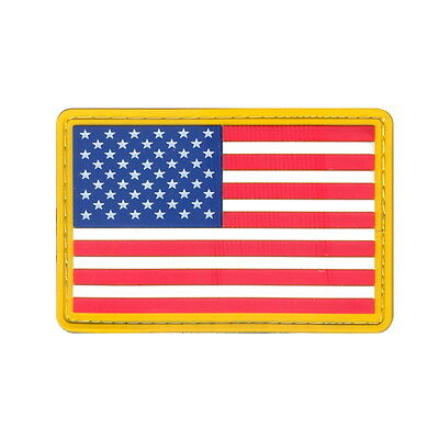 USA American Flag Full Color Rubber PVC Morale Hook 2x3 Uniform Airsoft Patch