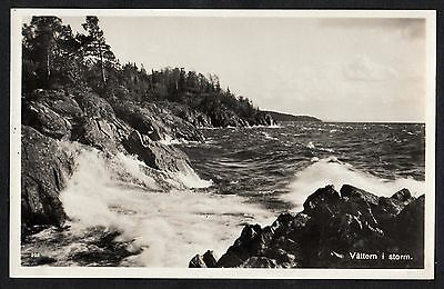 C. 1960s View of Lake Vättern in a storm, Sweden