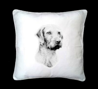 Wired Haired Hungarian Vizsla Dog Printed Design Faux Silk/Suede Cushion Cover