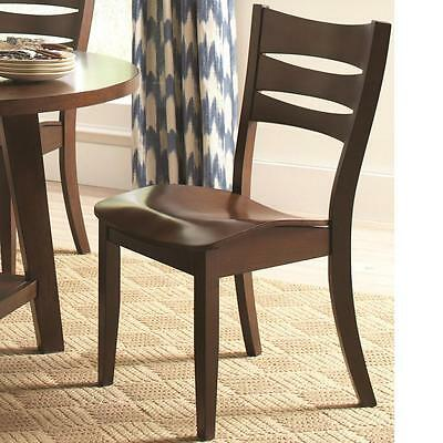 Byron Dark Brown Slat Back Dining Chair by Coaster 105632 - Set of 2