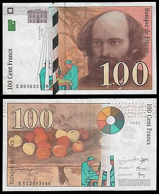 France 100 Francs, 1998, P-158, Circulated, VF to XF