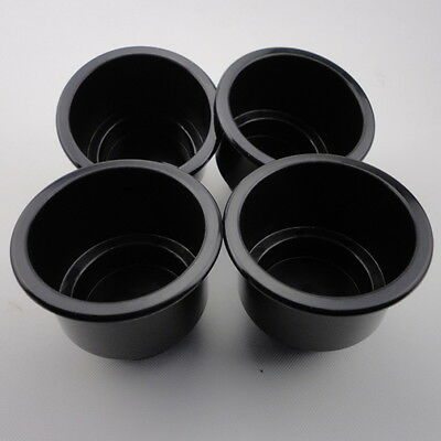 Stocking 4 PCS Black Boat Plastic Cup Drink Can Holder Boat Marine RV Universal