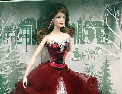 2015 Barbie Collector Holiday Doll Auburn Hair  K Mart Exclusive