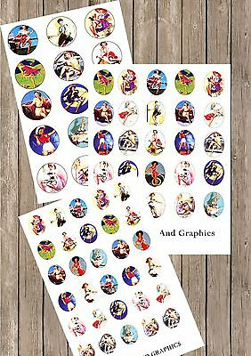 Gil Elvgrin PIN UP MIX IMAGES collage PAPER sheet 30MM /  1INCH / 30X40MM