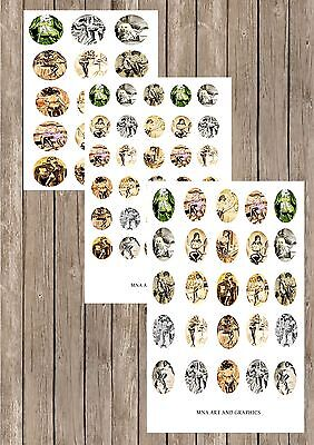 Bill Ward PIN UP girls MIX IMAGES collage PAPER sheet 30MM / 1INCH / 30X40MM