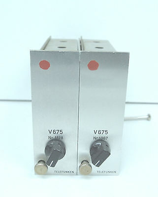 Telefunken V675 Matched Pair moded to Micpre  full discrete Racking Option RARE!