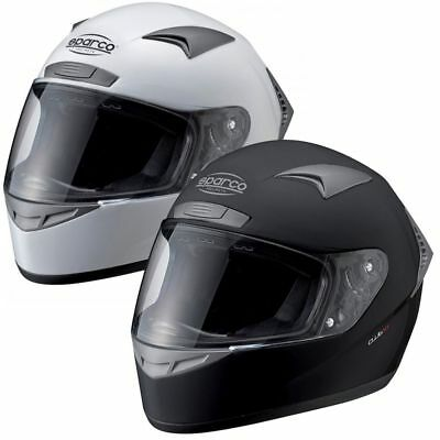 Helmet SPARCO CLUB X-1 XS S M L XL XXL BLACK WHITE DRIFT RALLY TRACK DAY RACING