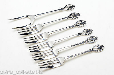 Sterling Silver Set of Antique Asparagus/Pastry/Pie/Dessert/Salad/Cocktail Forks