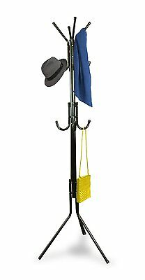 12 Hook Metal Floor Standing Coat Stand Hat Clothes Hanger Storage Rack
