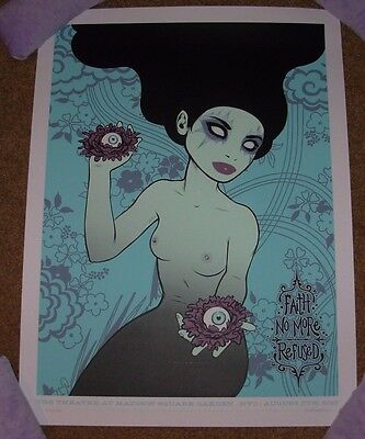 FAITH NO MORE concert gig poster print NEW YORK 8-5-15 2015 tara mcpherson #2