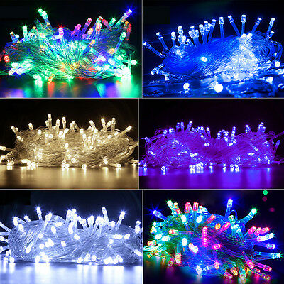 UK Mains Powered/Battery Operated Fairy LED String Outdoor Christmas Path Lights