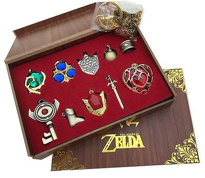 The Legend of Zelda Sword Logo keychain Pendant 10pcs Set Collection Gift Box