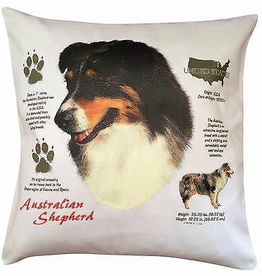 Australian Shepherd History Breed Dog Group Cotton Cushion Cover - Perfect Gift