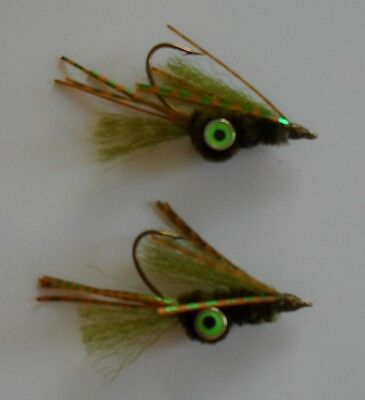 BWC flies Olive Squimp Bass fly