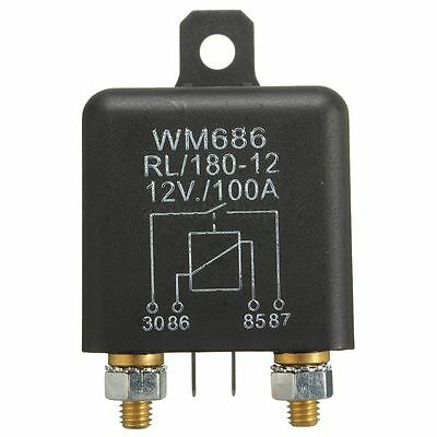 12V DC 100A Amp Car Auto Heavy Duty Split Charge SPST Relay ON/OFF Switch 4-Pin