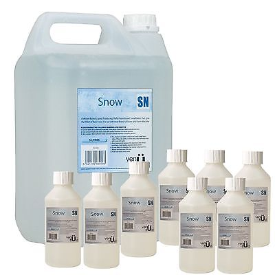 5L Snow Fluid For Artificial Snowflake Effect Machines + 8 x 250ml Concentrate