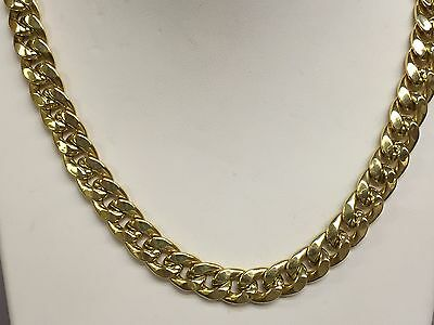 "14k Gold Miami Cuban Curb Link 20"" 10 mm 50 grams chain/Necklace (REL)"
