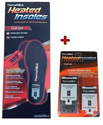 ThermaCell ProFLEX Heated Insoles Foot Warmer XXL + EXTRA Battery Pack XX-Large