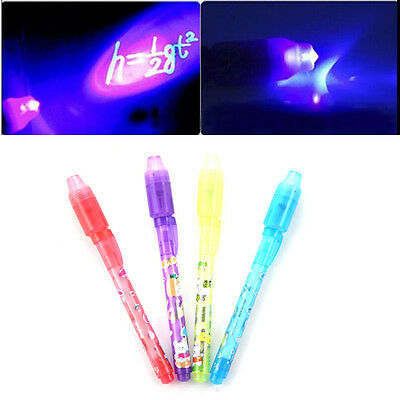 Invisible ink pen and UV black light combo secret spy message Hot 2pcs