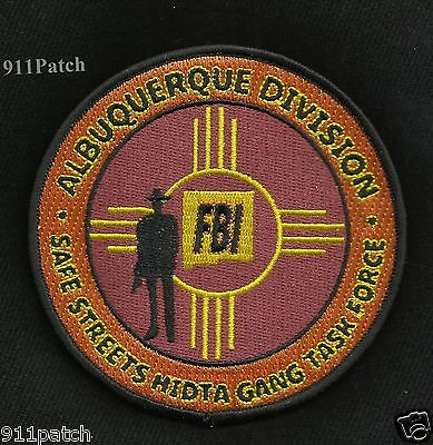 ALBUQUERQUE NEW MEXICO NM - FBI Safe Streets HIDTA Gang Task Force POLICE Patch