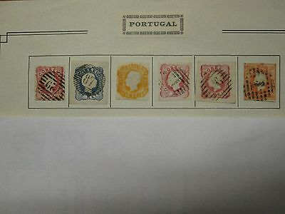 Portugal stamps, 1855 -1905, used.