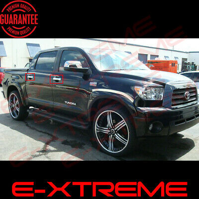 Chrome Handles For 2007-2018 Toyota Tundra Crewmax 4 Doors Covers W/out Psk