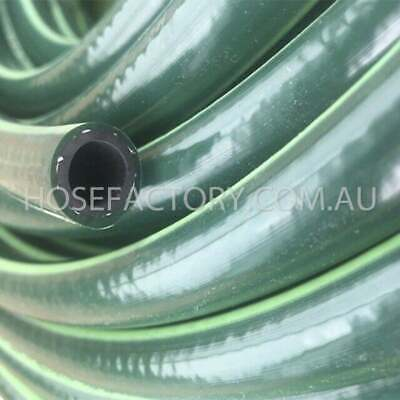 "Garden Water Hose 30M Heavy Duty Rubber 12MM - 1/2"" Double Walls  9/10 Kink Free"