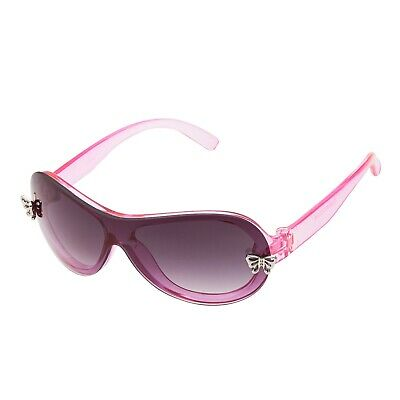 Pink Girls Sunglasses butterfly plaques on the frame UVA UVB Glasses over size