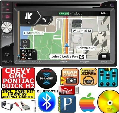 GM CAR-TRUCK-VAN-SUV GPS NAVIGATION Cd/Dvd Bluetooth Radio Stereo Double Din USB