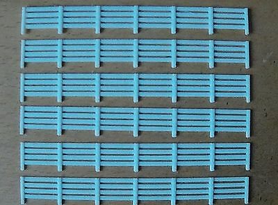 Model railway OO Gauge 4 RAIL FENCING KIT Scale building scenery white plastic